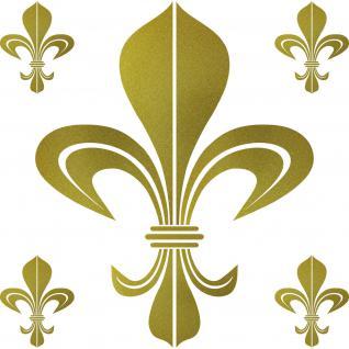 Set Bourbon Lilie gold Aufkleber Tattoo Lilien Fleur de Lis die cut Deko Folie