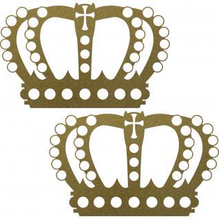 2 Stück 23cm gold König Krone Aufkleber Tattoo Wandtattoo die cut Deko Folie