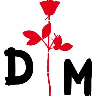 Enjoy the silence Rose 50cm rot + DM 20cm schwarz Auto Aufkleber Depeche Mode