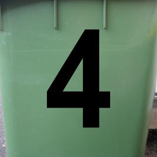1 Stück 18cm schwarz Aufkleber Tattoo Hausnummer Wunschziffer Zahl Nummer Ziffer - Vorschau 2
