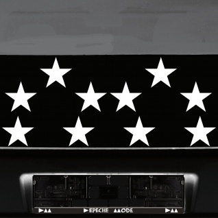 10 Klebesterne 10cm weiß Sterne Auto Fenster Aufkleber Tattoo die cut Deko Folie
