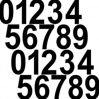 20 Aufkleber Tattoo 12cm schwarz Zahl Zimmer Haus Tür Spind Start Nummer Ziffer