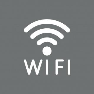 Aufkleber Tattoo WIFI 12cm weiß WLAN Hotspot kostenlos Internet Zugang Zeichen