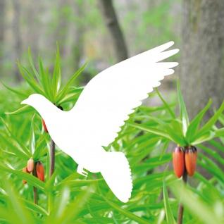 Aufkleber Taube 20cm weiss Tattoo Deko Folie Vogel Fenster Tier Schutz Warnvogel
