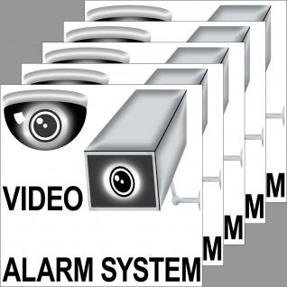 5 Aufkleber 10cm Video Kamera Alarm System Sticker Hinweis Warnung Überwachung