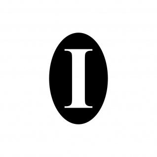 I Italien Aufkleber Tattoo 7cm schwarz Deko Folie Oldtimer Länderkennzeichen