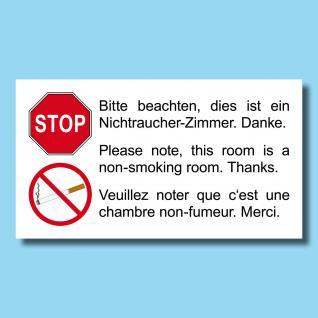 50 Stück Aufkleber Sticker Hotelzimmer Hotel Pension Hinweis Nichtraucher Zimmer