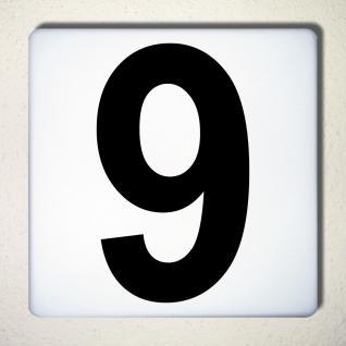 Ziffer 9 schwarz 18cm Aufkleber Tattoo Nummer Zahl Hausnummer Haus Tür Mülltonne