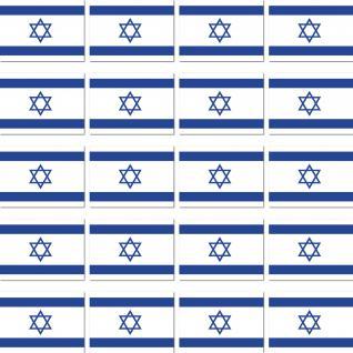 20 Stück Israel Länder Fahne Flagge RC Modellbau Mini Deko Aufkleber Sticker