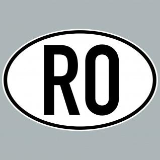 RO Aufkleber Sticker Rumänien Länderkennung Länderkennzeichen 4061963084007