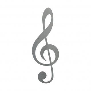 Violinschlüssel 20cm silber Notenschlüssel Musik Auto Aufkleber Tattoo Dekofolie