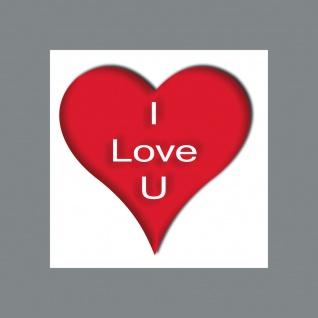 Aufkleber Sticker 5cm I Love U You Deko für Geschenk Verpackung Umschlag etc.