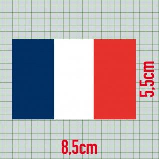 20 Aufkleber 8, 5cm Sticker FRA Frankreich EM WM Fußball National Flaggen Fahnen - Vorschau 3