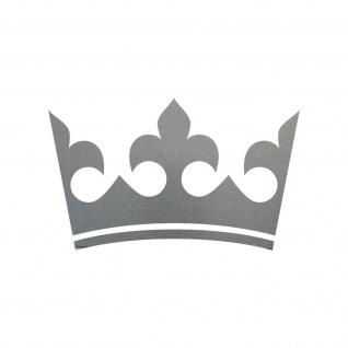 12cm silber Krone Aufkleber Tattoo Kinder Zimmer Auto Heck Fenster Tür Möbel