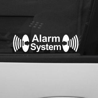 5 stk alarm system wei aufkleber tattoo die cut folie gespiegelt f r innenseite kaufen bei. Black Bedroom Furniture Sets. Home Design Ideas