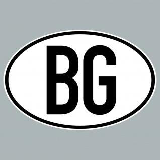 BG Aufkleber Sticker Bulgarien Länderkennung Länderkennzeichen 4061963019924