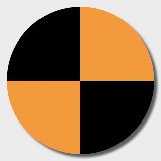 20 Aufkleber 10cm orange Sticker Fadenkreuz crashtest dummy Zeichen Symbol Marke
