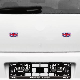 2 Stück 6cm UK England union jack Großbritannien Flaggen Tattoo Auto Deko Folie