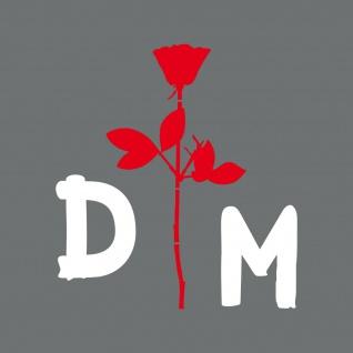 Set M Enjoy the silence Rose rot DM weiß Auto Heck Aufkleber Depeche Mode Tattoo