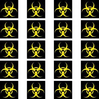 20 Aufkleber 2cm Biohazard Bio Gefahr Hinweis Zeichen Symbol Mini Sticker RC