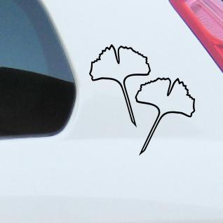 4 Aufkleber Tattoo 15cm schwarz Kont Ginko Gingko Blatt Auto Fenster Deko Folie