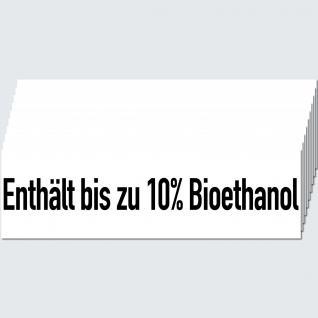 10 Aufkleber Sticker Enthält bis zu 10% Bioethanol Tankstelle Zapfsäule Hinweis