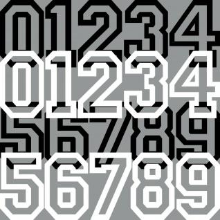 8cm Aufkleber Tattoo Auto Kart Haus Tür Nummer Zahl Ziffer Startnummer Racing