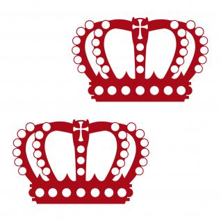 2 Kronen 12cm dunkelrot König Krone Aufkleber Tattoo die cut Decal Deko Folie