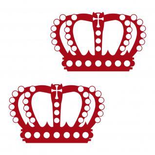 Perlen Krone 20cm weiß Aufkleber Tattoo König Deko Folie Auto Möbel Fenster Tür