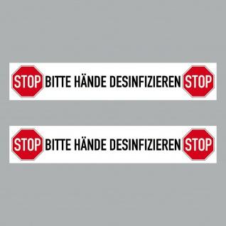 2 Aufkleber 20cm Sticker Bitte Hände Desinfizieren Corona Hinweis 4061963068717