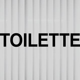 2 Aufkleber 35cm schwarz TOILETTE Hinweis Schriftzug Tür WC Tattoo Deko Folie - Vorschau 3