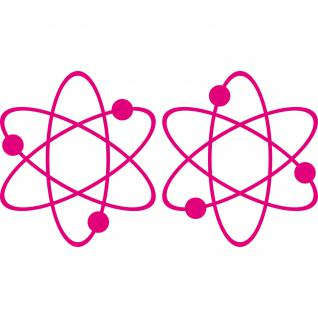 2 Aufkleber Tattoo pink 17cm big bang theory Atom ipad Auto Decal Deko Folie