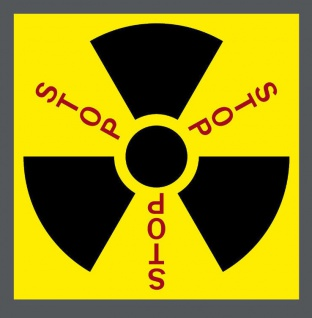 Aufkleber Sticker 5cm STOP Strahlung Radioaktivität Castor Atomkraft Kernkraft