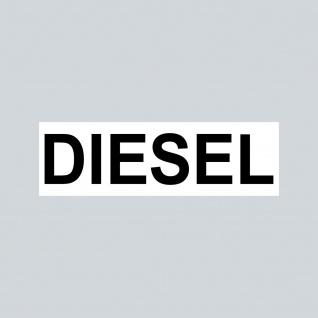 Aufkleber 6, 5cm Sticker DIESEL Kraftstoff Tanken Auto Tank Tankdeckel Hinweis
