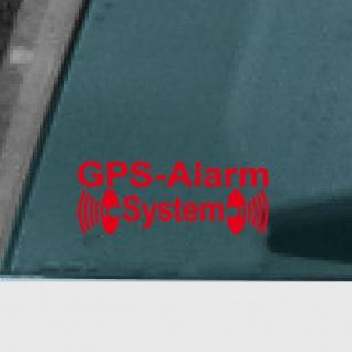5 Aufkleber Tattoo GPS Alarm System rot Auto Schaufenster Außen getönte Scheibe