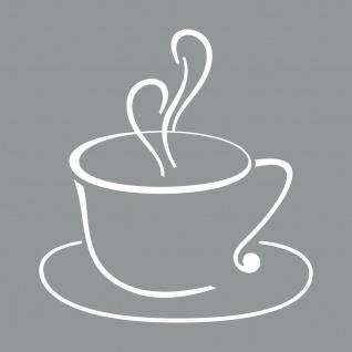 Kaffee Tasse 30cm weiß Aufkleber Tattoo Folie Fenster Scheibe Schaufenster Cafe