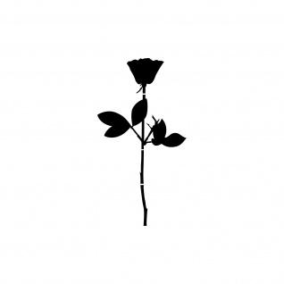 Rose 6cm schwarz Handy Auto Tür Fenster Deko Folie Depeche Mode Aufkleber Tattoo