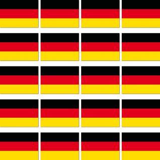 20 Aufkleber 3cm Mini Sticker BRD Deutschland Länder Fahne Flagge RC Modellbau
