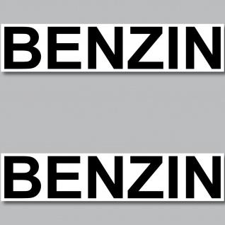 2 Aufkleber Benzin 20cm Sticker Hinweis Kraftstoff Tanken Kanister Auto Pkw Bus