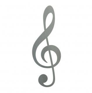 Violinschlüssel 25cm silber Notenschlüssel Musik Auto Aufkleber Tattoo Dekofolie