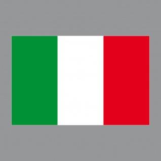 Aufkleber 8, 5cm Sticker ITA Italien Italy Flagge Fahne Fußball Fan EM WM Deko