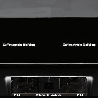 2 st ck waffenschmiede wolfsburg 20cm wei auto aufkleber tattoo deko folie kaufen bei green it. Black Bedroom Furniture Sets. Home Design Ideas