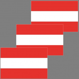 3 Aufkleber 6, 5cm Sticker Österreich A AT AUT Fußball Deko EM WM Flagge Fahne