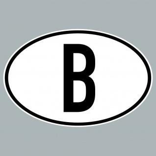 B Aufkleber Sticker Belgien Länderkennung Länderkennzeichen 4061963019856