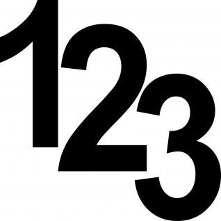 3 Aufkleber Tattoo schwarz 12cm Ziffern Nummern Zahlen Nummer Hausnummer Folie