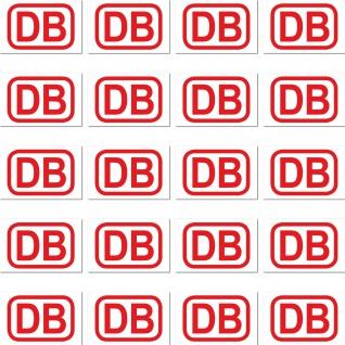 20 Mini Sticker 2cm Aufkleber DB rot Deutsche Bahn RC Modellbau Deko Zubehör