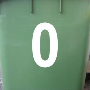 Ziffer 0 weiß 12cm Aufkleber Tattoo Nummer Zahl Hausnummer Haus Tür Mülltonne - Vorschau 2