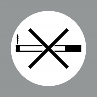 Aufkleber 10cm Sticker rund Rauchverbot Rauchen Verboten