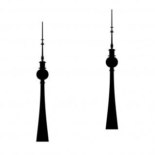 2 Aufkleber 20cm schwarz Tattoo Fernsehturm Turm Berlin Auto Möbel Deko Folie