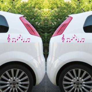 2 sets violinschl ssel 10cm noten pink t r auto fenster. Black Bedroom Furniture Sets. Home Design Ideas